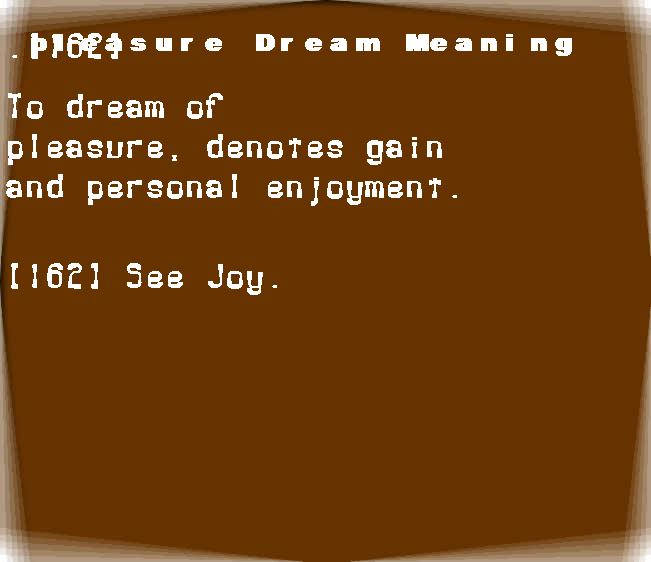 dream meanings pleasure