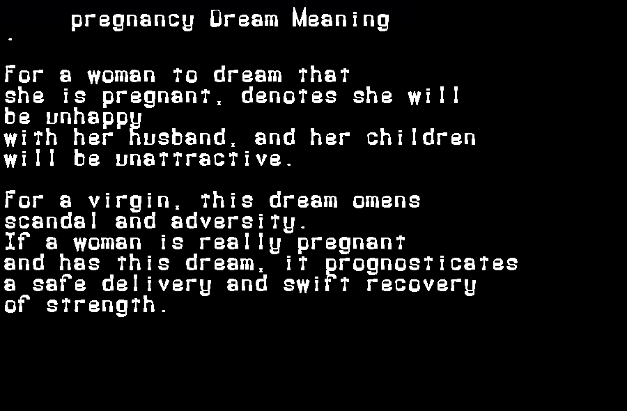 dream meanings pregnancy