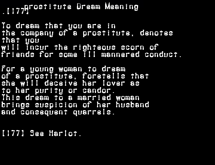dream meanings prostitute