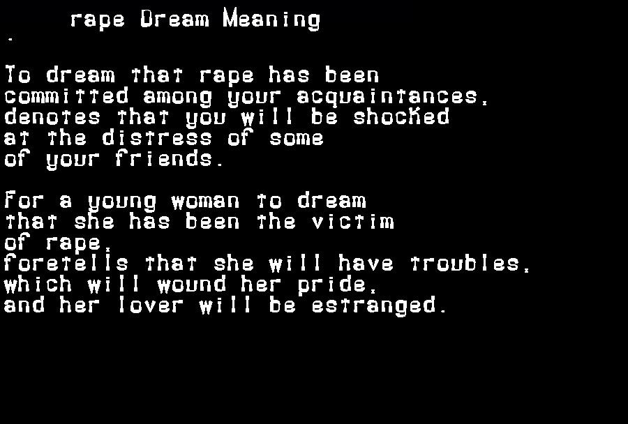dream meanings rape