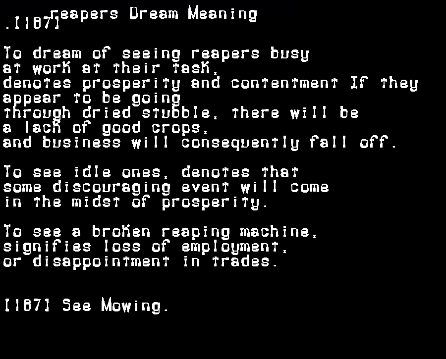 dream meanings reapers