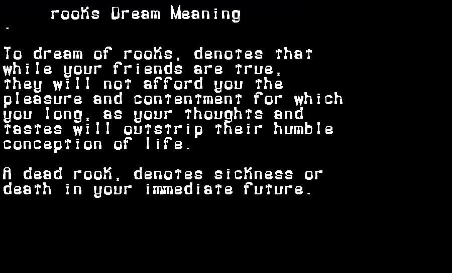 dream meanings rooks