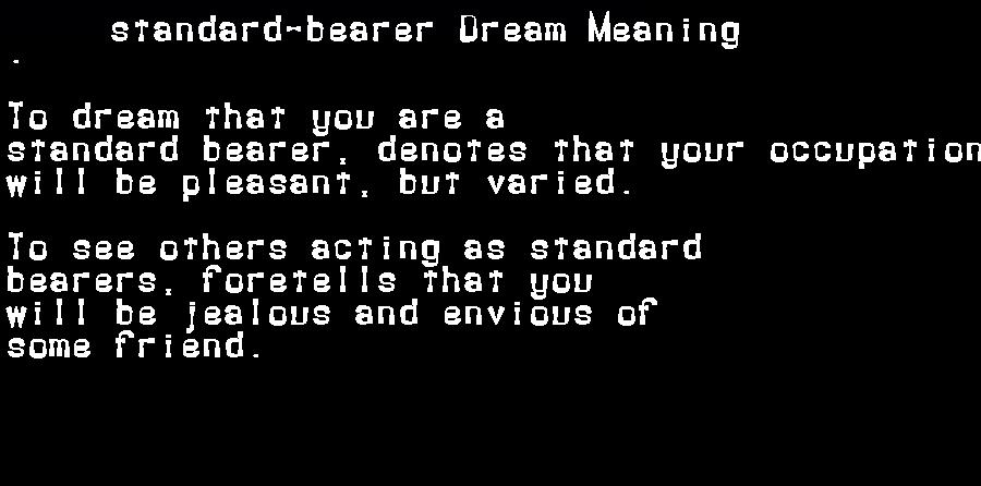 dream meanings standard-bearer