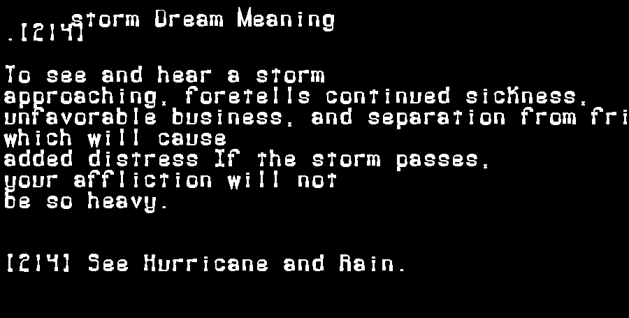 dream meanings storm