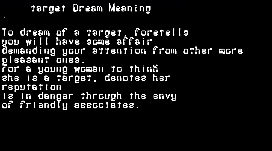 dream meanings target