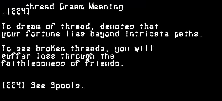 dream meanings thread