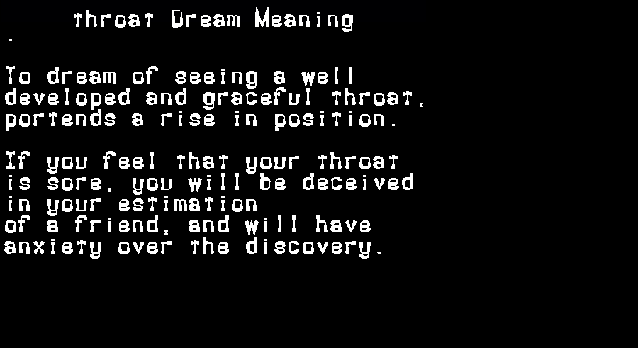 dream meanings throat
