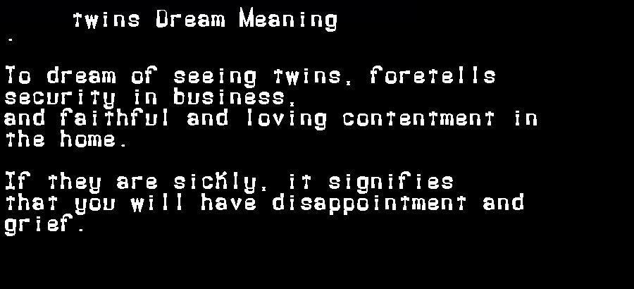 dream meanings twins