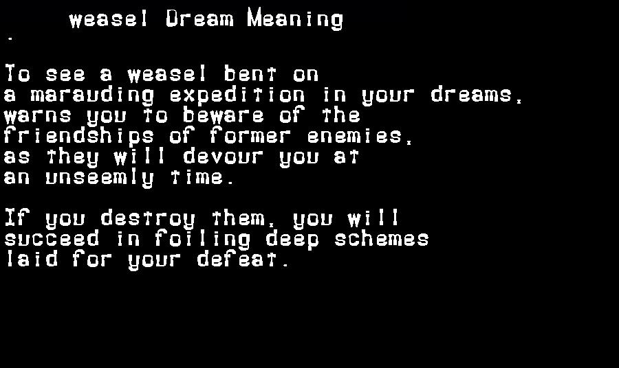 dream meanings weasel