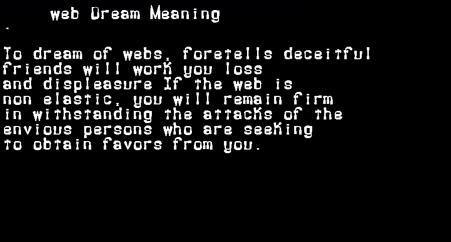 dream meanings web