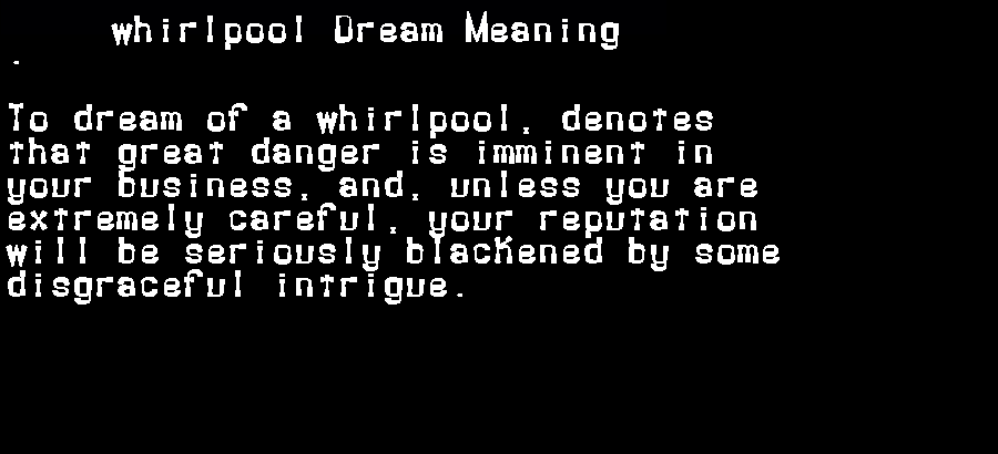 dream meanings whirlpool