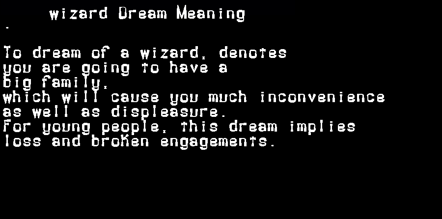 dream meanings wizard