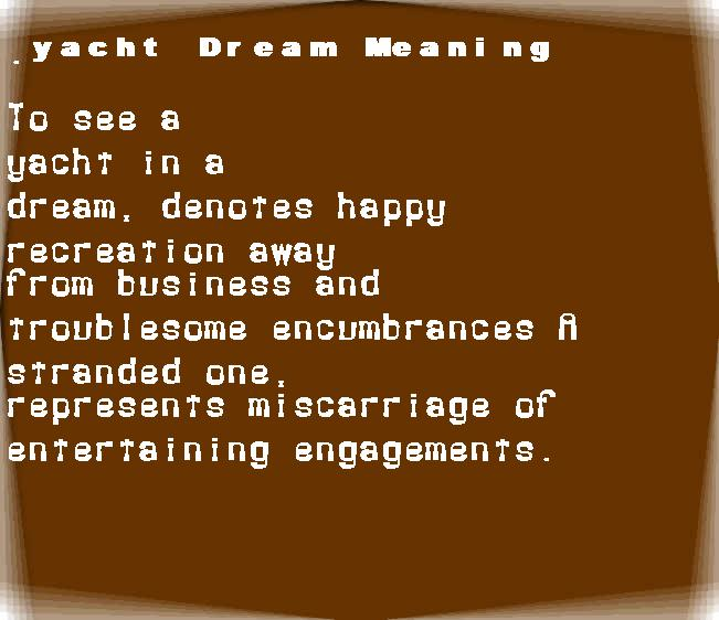 dream meanings yacht