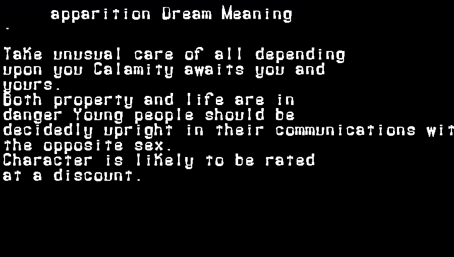 dream meanings apparition