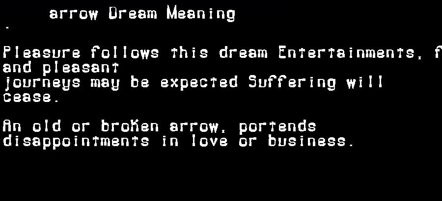 dream meanings arrow