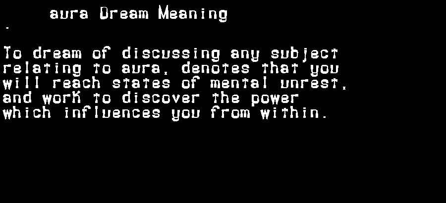 dream meanings aura