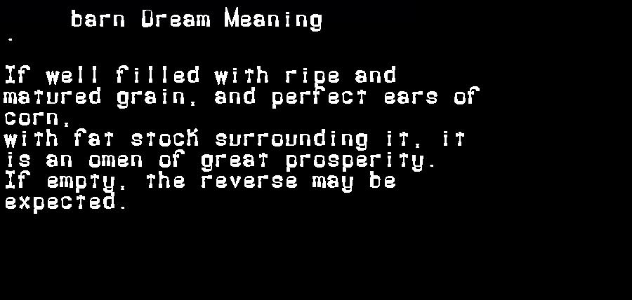 dream meanings barn