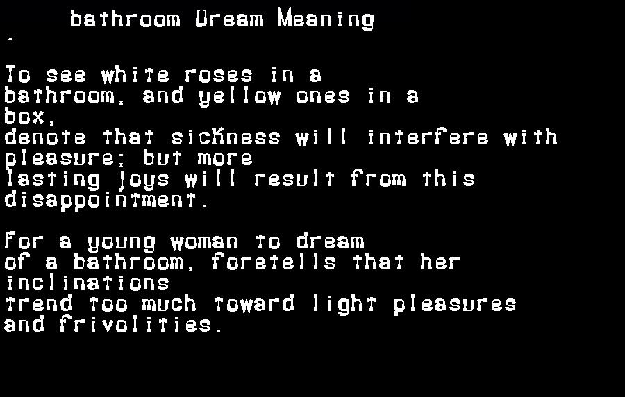 dream meanings bathroom