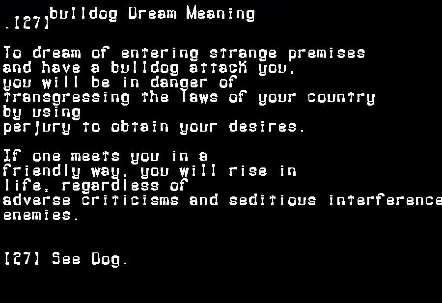 dream meanings bulldog
