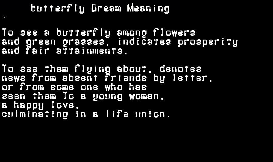 dream meanings butterfly