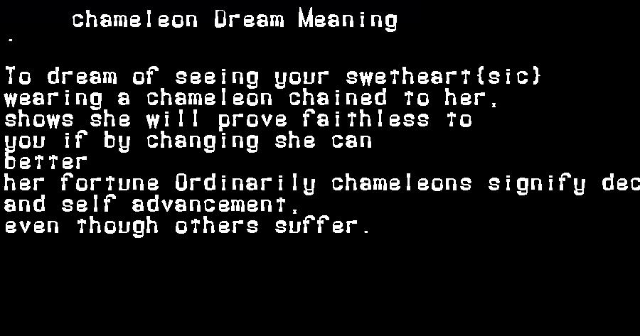 dream meanings chameleon