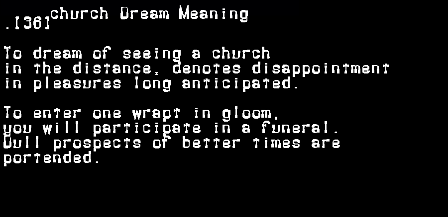 dream meanings church