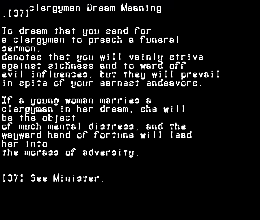 dream meanings clergyman