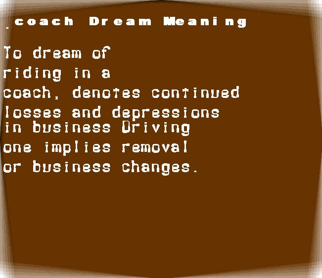 dream meanings coach