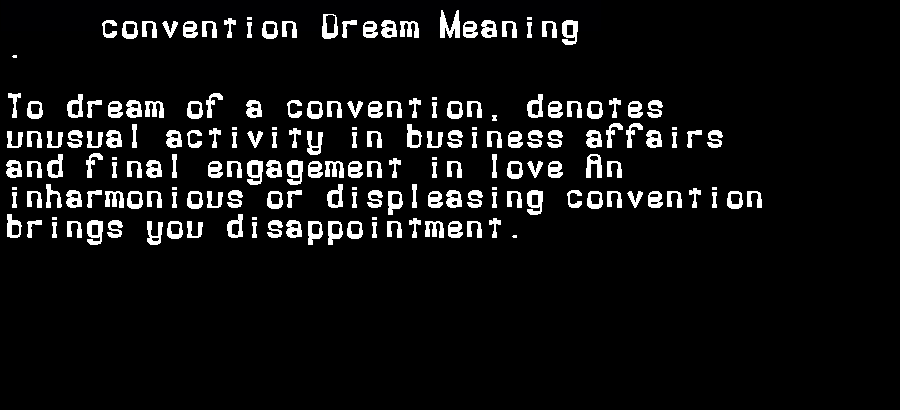 dream meanings convention