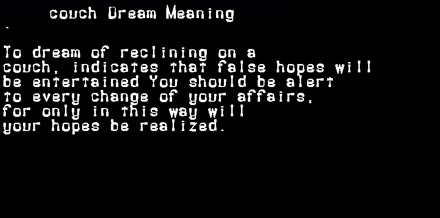dream meanings couch
