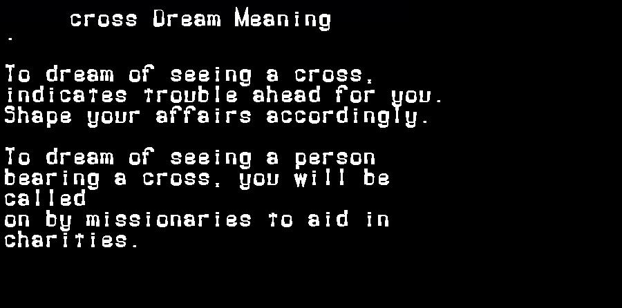 dream meanings cross