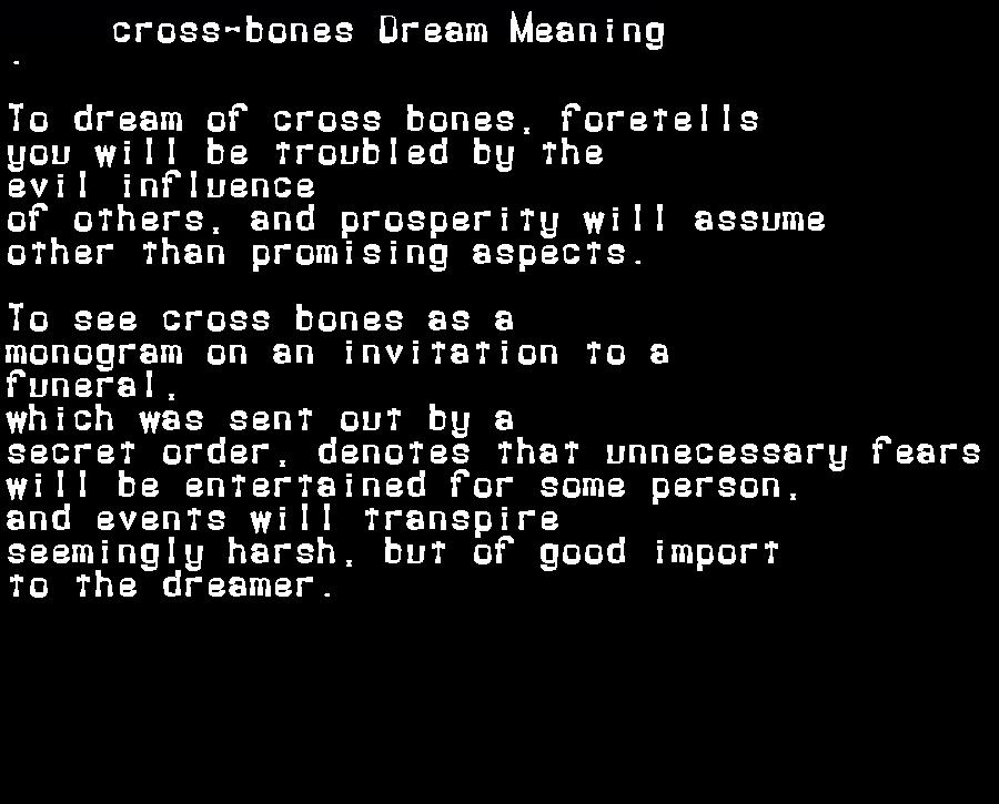 dream meanings cross-bones