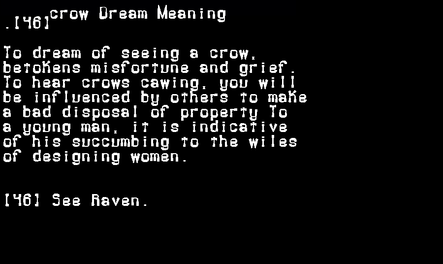 dream meanings crow