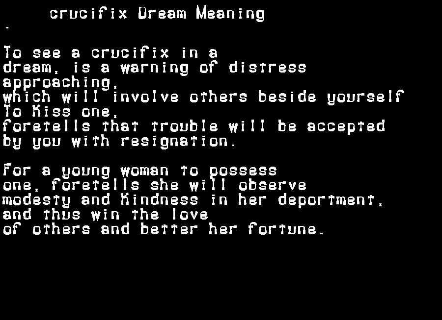 dream meanings crucifix