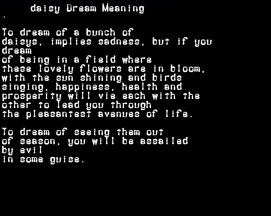 dream meanings daisy