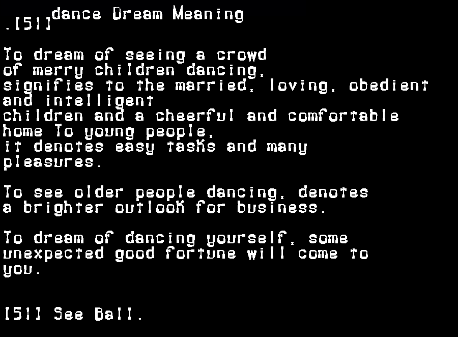 dream meanings dance