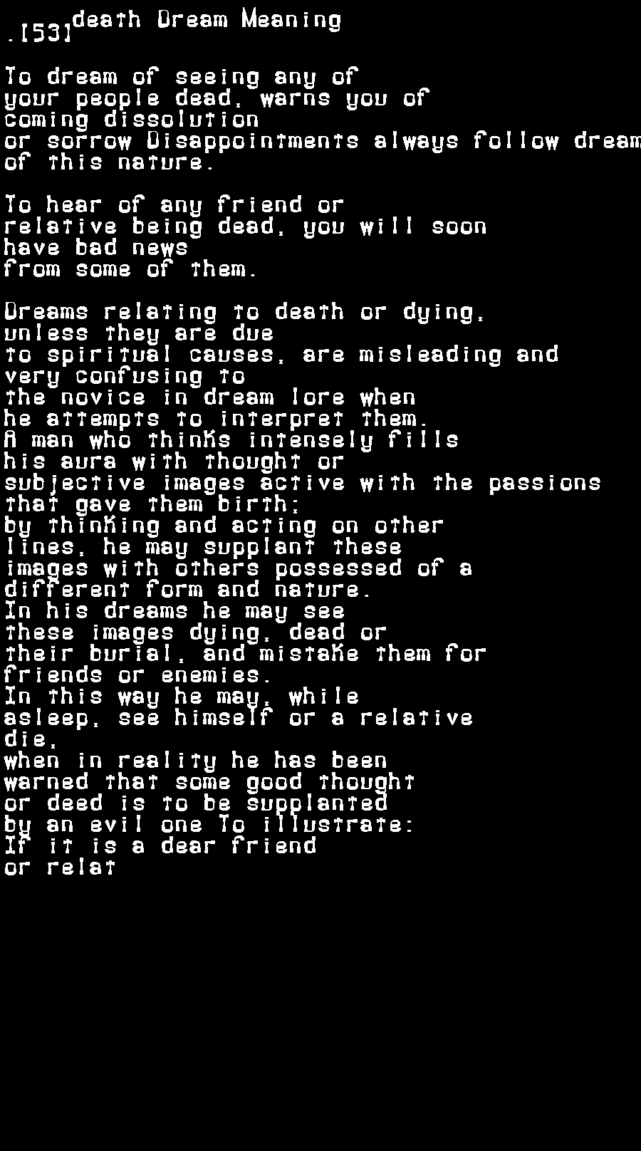 dream meanings death