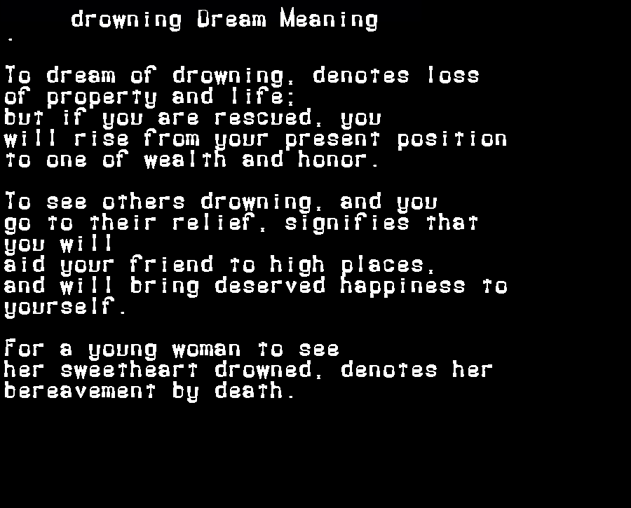 dream meanings drowning