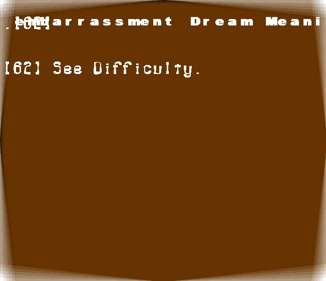 dream meanings embarrassment