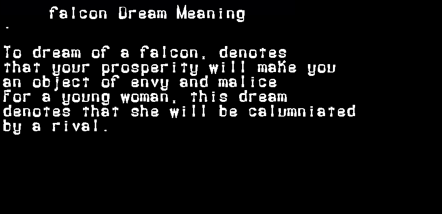 dream meanings falcon