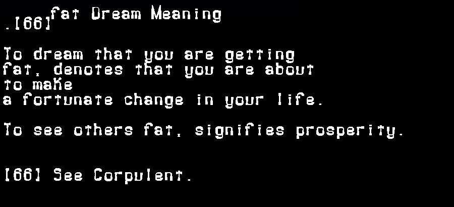 dream meanings fat