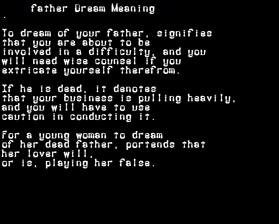 dream meanings father
