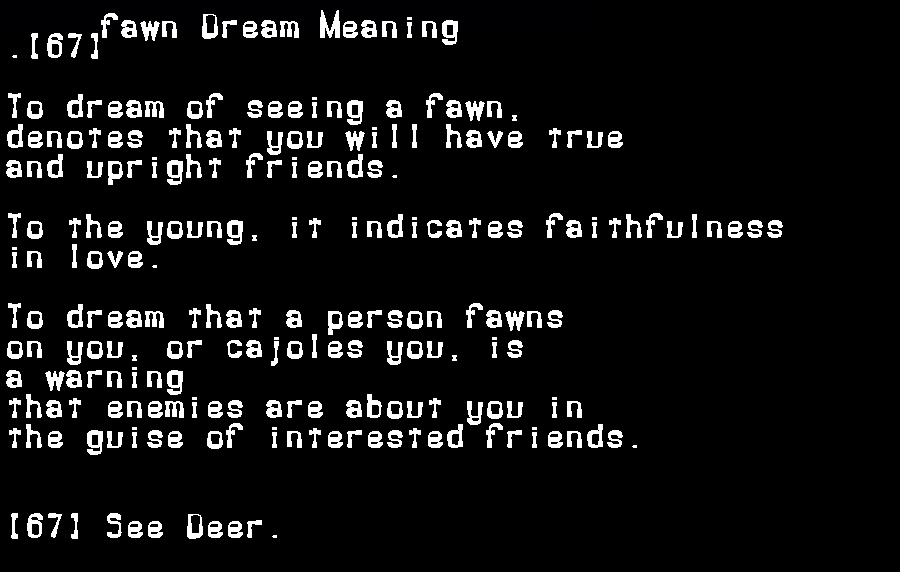 dream meanings fawn