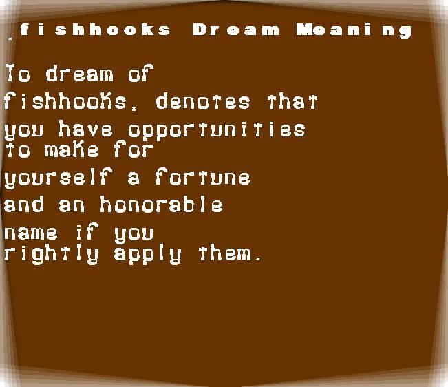 dream meanings fishhooks