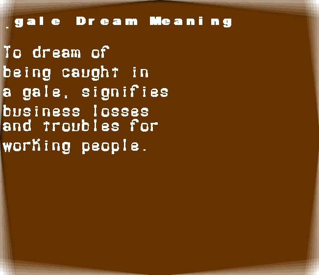 dream meanings gale