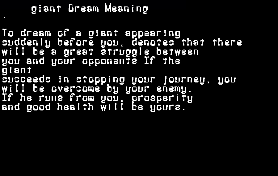 dream meanings giant