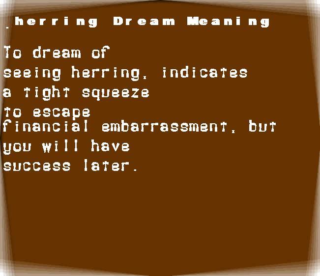 dream meanings herring