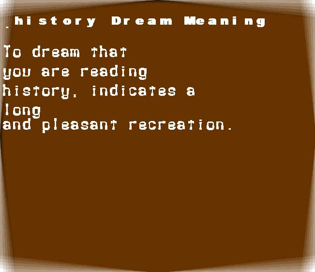 dream meanings history