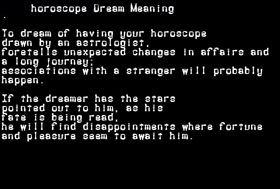 dream meanings horoscope