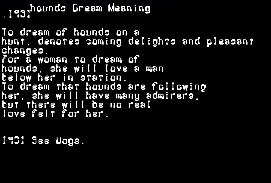 dream meanings hounds